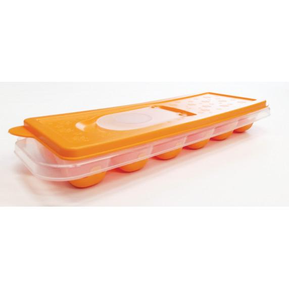 Silikonová forma na led s víčkem Inlea4Home - oranžová