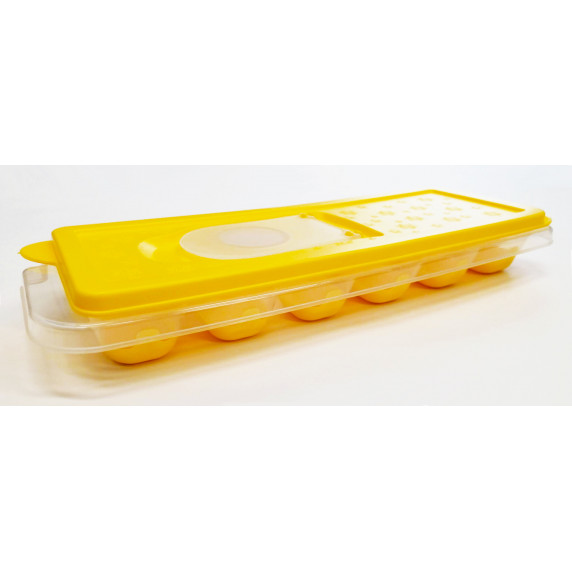 Silikonová forma na led s víčkem Inlea4Home - žlutá