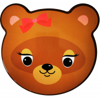 Dóza na potraviny sada zvířátka 4 ks Inlea4Home - medvídek s mašličkou