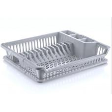 Odkvapávač na nádobí s podnosem Inlea4Home - šedý Preview