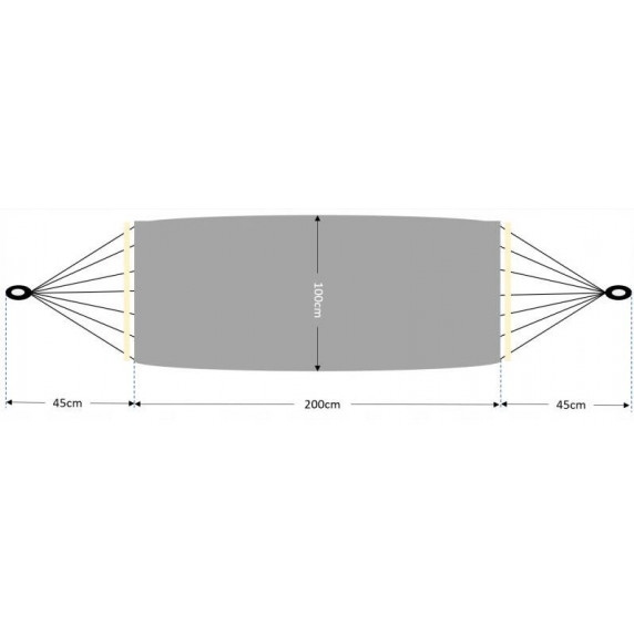 Houpací síť Ingarden Maja HAM2665 200x100 cm - růžová