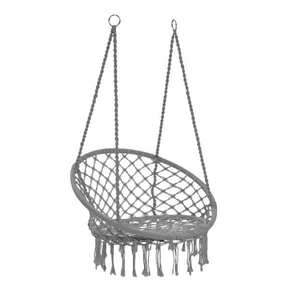 Závěsné křeslo Ingarden 80x60x120cm- šedé