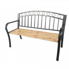 InGarden Zahradní lavička s kovaným designom 127 x 53 x 84 cm Preview