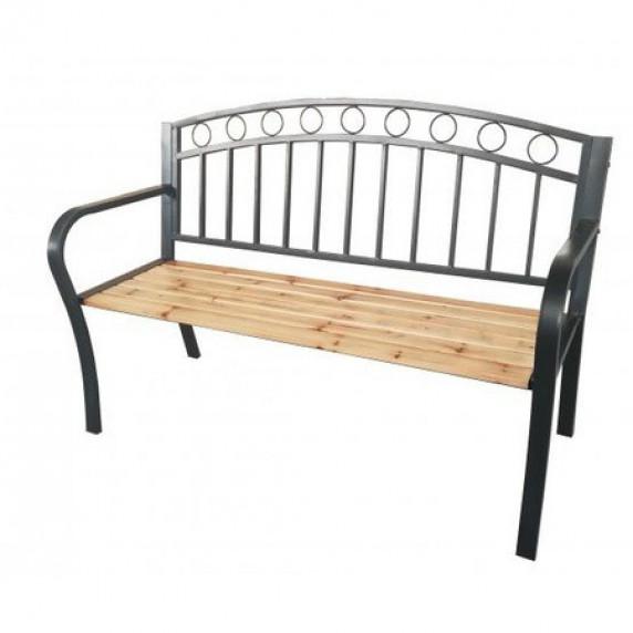InGarden Zahradní lavička s kovaným designom 127 x 53 x 84 cm