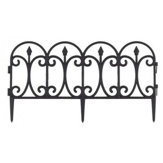 GARDEN LINE Záhradní plastový plot 60 x 33 cm - 4 ks
