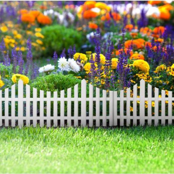 GARDEN LINE Záhradní plastový plot 60,5 x 32,5 cm - sada 4 ks