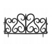 GARDEN LINE Záhradní plastový plot 59,5 x 37 cm - sada 4 ks - černá