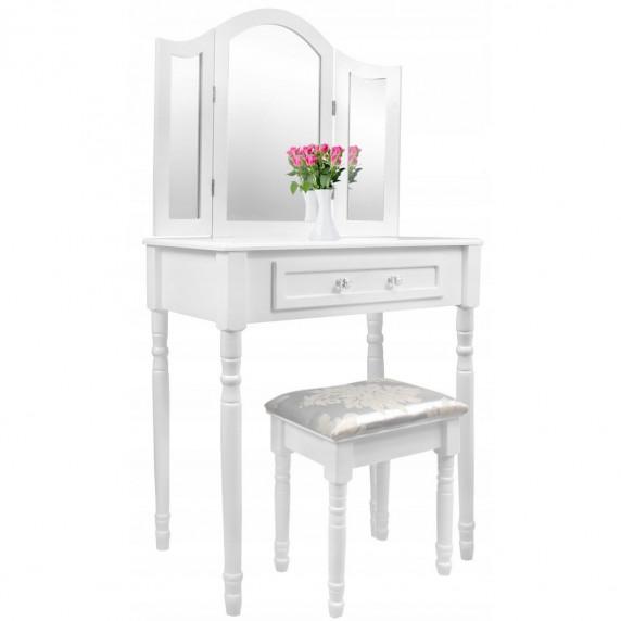 Toaletní stolek s taburetem Inlea4Fun  PHO0069