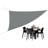 Trojuhelníková zahradní stínící plachta 3,6 x 3,6 x 3,6 m - šedá