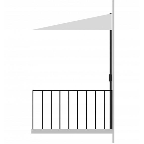 InGarden balkónový slunečník 2,7 m šedý
