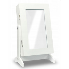 Inlea4Fun držák na šperky se zrcadlem - bílý