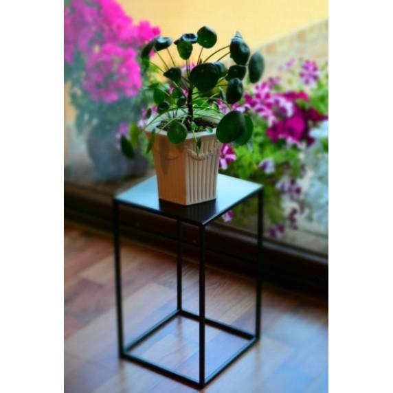 Stojan na květy 22x22x30 cm Inlea4Home 9275  - černý