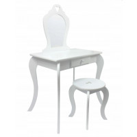 Inlea4Fun Toaletní stolek - bílý