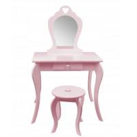 Inlea4Fun Toaletní stolek-růžový