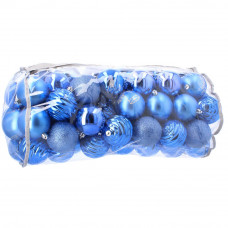 1009/5000 Inlea4Fun Vánoční koule 80 kusů 8 cm - modré Preview