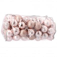 Inlea4Fun Vánoční koule 80 kusů 8 cm - růžové Preview