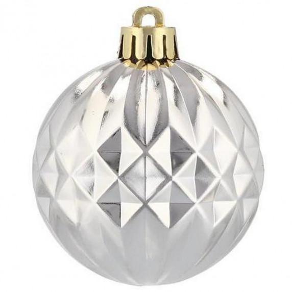 Inlea4Fun Vánoční koule 80 kusů 6 cm - zlaté a stříbrné