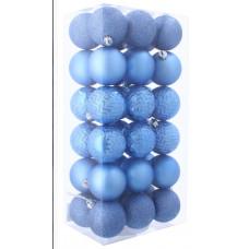 Inlea4Fun Vánoční koule 36 kusů 6 cm - modré Preview