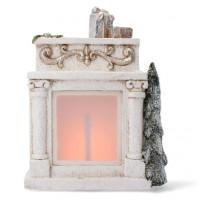 Inlea4Fun Vánoční krb 31 cm s LED světlem