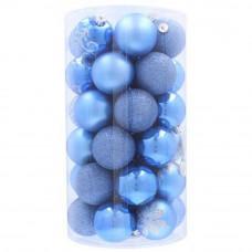 Inlea4Fun Vánoční koule 41 kusů 6 cm - modré Preview