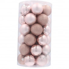 Inlea4Fun Vánoční koule 41 kusů 6 cm - růžové Preview