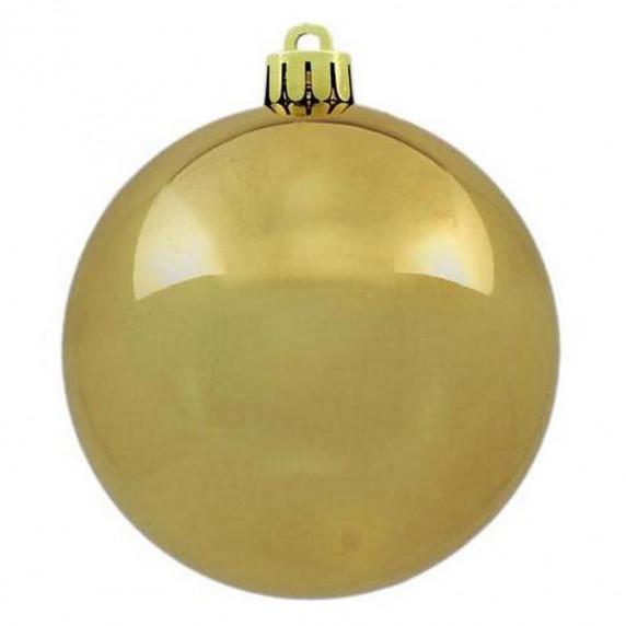 Inlea4Fun Vánoční koule 100 kusů 6 cm - zlaté