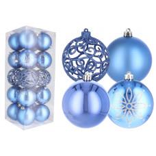 Inlea4Fun Vánoční koule 20 kusů 8 cm - modré Preview