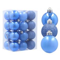 Inlea4Fun Vánoční koule 24 kusů 4 cm - modré Preview