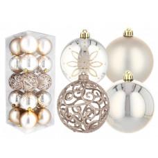 Inlea4Fun Vánoční koule 20 kusů 8 cm - zlaté Preview