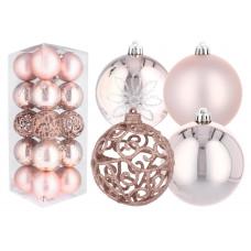 Inlea4Fun Vánoční koule 20 kusů 8 cm - růžové Preview