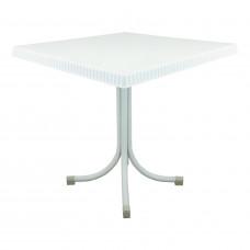 Ratanový zahradní stůl InGarden 80x80x73 cm 6437 - bílý Preview