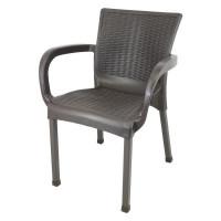 Ratanová zahradní židle InGarden 60 x 60 x 82 cm - hnědá
