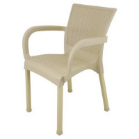 Ratanová zahradní židle InGarden 60 x 60 x 82 cm - cappuccino