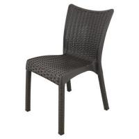 Ratanová zahradní židle  InGarden 53 x 45 x 81 cm 3938 - hnědá