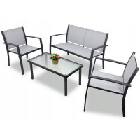 Zahradní sestava InGarden HALINA  stůl + lavice + 2 židle