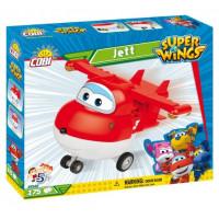 COBI 25122 SUPER WINGS Jett červené letadlo 175 ks