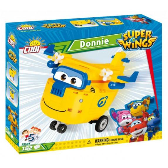 COBI 25124 SUPER WINGS Opravář Donnie žluté letadlo 182 ks