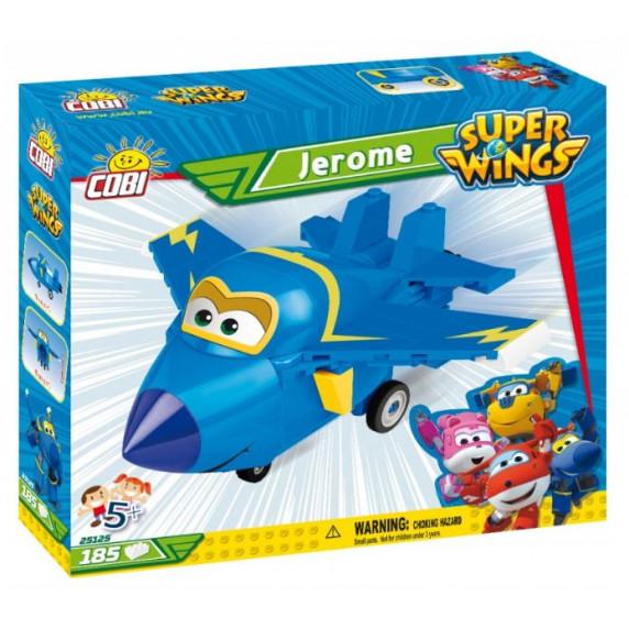 COBI 25125 SUPER WINGS Stíhačka Jerome modré letadlo 185 ks