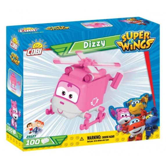 COBI 25127 SUPER WINGS Záchranářka Dizzy mini růžový vrtulník 100 ks