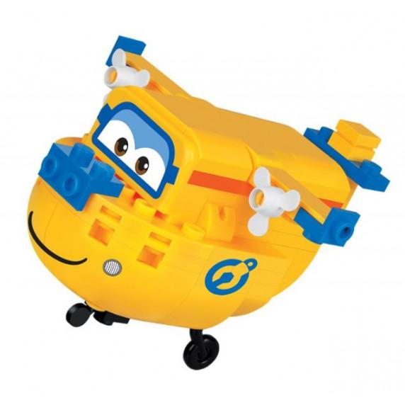 COBI 25128 SUPER WINGS Opravář Donnie mini žluté letadlo 99 ks