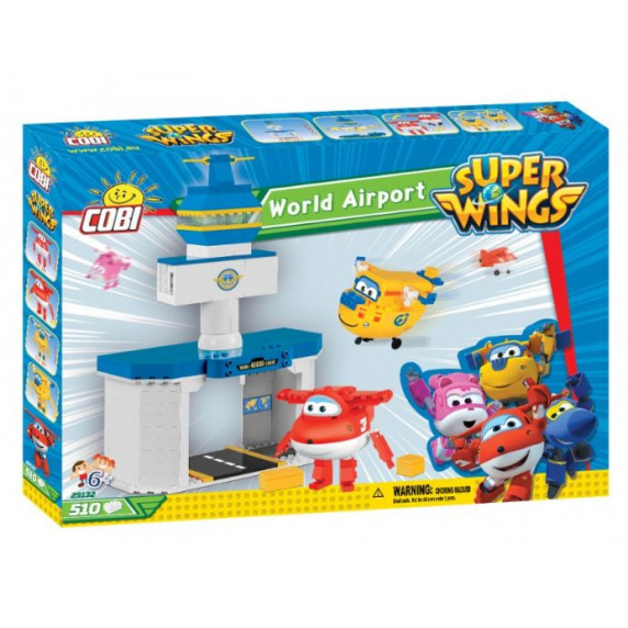 COBI 25132 SUPER WINGS Medzinárodní letiště + Jett i Donnie 510 ks