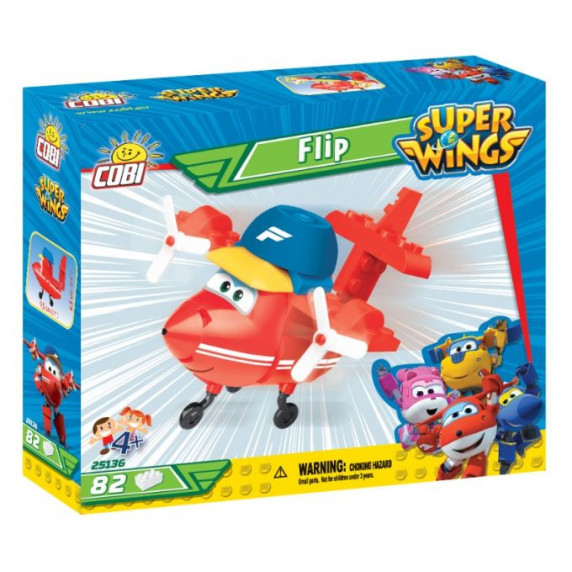 COBI 25136 SUPER WINGS Sporťák Flip mini červené letadlo 82 ks