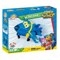 COBI 25129 SUPER WINGS Stíhačka Jerome mini modré letadlo 68 ks