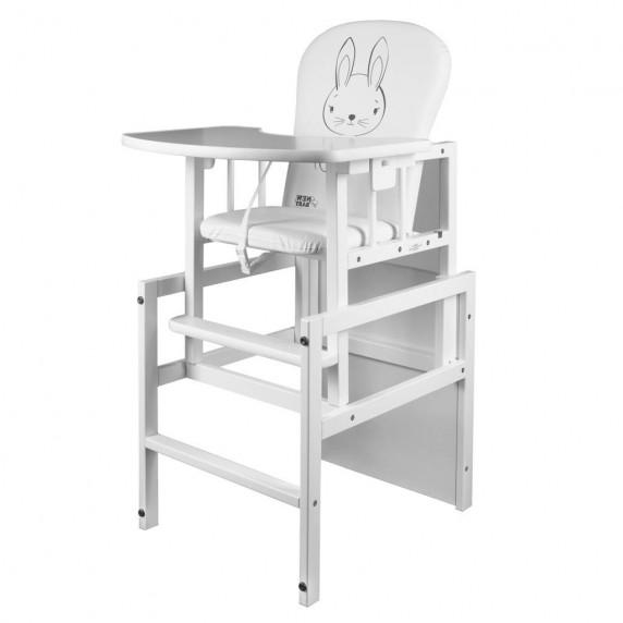 Borovicová židlička New Baby Králíček - bílá