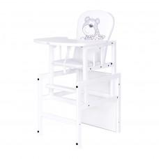 Drewex Antonín borovicová židle medvídek s hvězdičkou - Bílá Preview