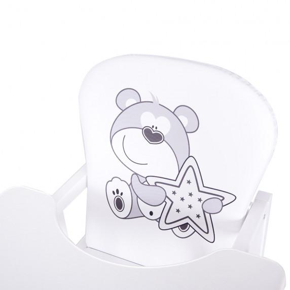 Drewex Antonín borovicová židle medvídek s hvězdičkou - Bílá