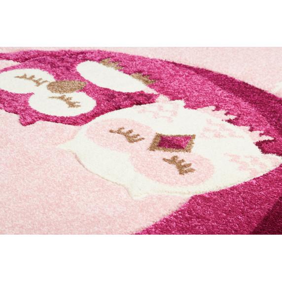 Dětský koberec Sovičky růžová Owl 160 x 230 cm