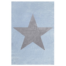 Dětský koberec STAR modrá/stříbrná-šedá Preview