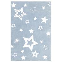 Dětský koberec STARLIGHT modrá/bílá - 160 x 230 cm