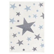 Dětský koberec STARS krémová/modrá 100 x 160 cm Preview